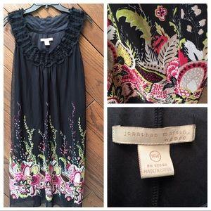 Jonathan Martin Women black floral dress 16W